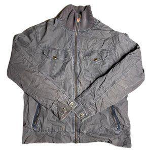 Nike Vintage Grunge Charcoal Bomber Jacket